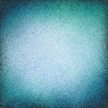 blue vintage background with texture scratch lines and vignette border Stockfoto