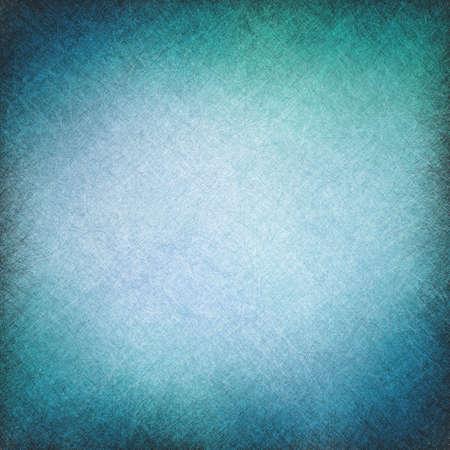 blauwe vintage achtergrond met textuur kras lijnen en vignet grens