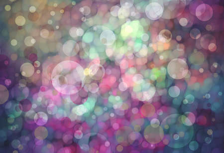 Beautiful pink blue bokeh background with shimmering colors of blue green pink and yellow and white lights. photo