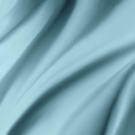 blue silk: abstract blue background luxury cloth or liquid wave or wavy folds of smooth silk texture, satin material or light blue luxurious background or elegant pouring paint design, blue background Stock Photo