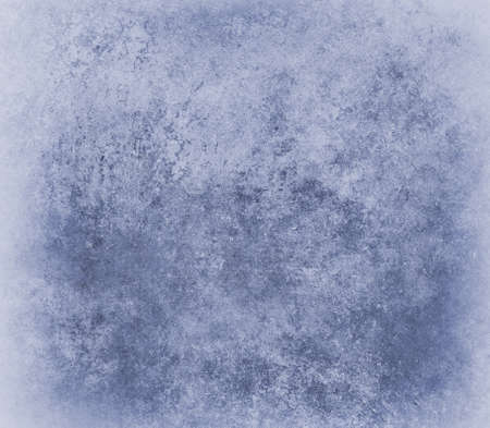 scuffed: blue background, old vintage distressed texture of scuffed damaged stained paper with faded light border, crackled blue wall paint deign with grunge stains