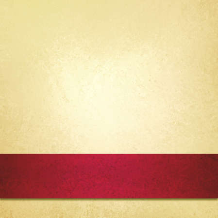 fond abstrait rouge: abstrait p�le fond d'or et ruban rouge bande, beau fond de No�l, anniversaire, Saint Valentin, ou �l�gant papier de fond jaune p�le fantaisie, texture de fond mill�sime, luxueux