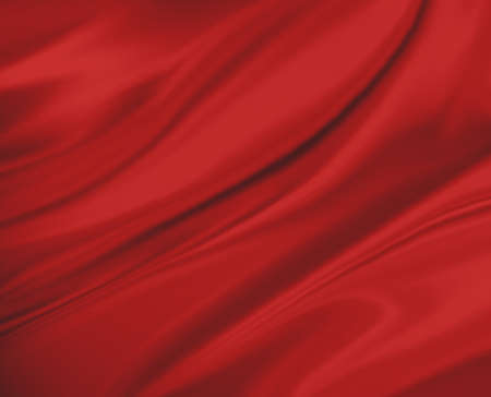 red background abstract cloth or liquid wave illustration of wavy folds, silk texture or satin satin material