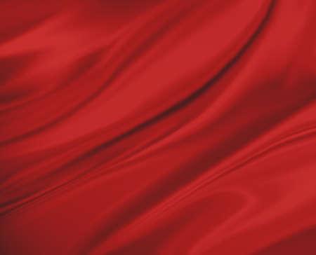 Sfondo rosso panno astratto o illustrazione onda liquido di pieghe ondulate, tessuto di seta o materiale raso raso Archivio Fotografico - 32340007