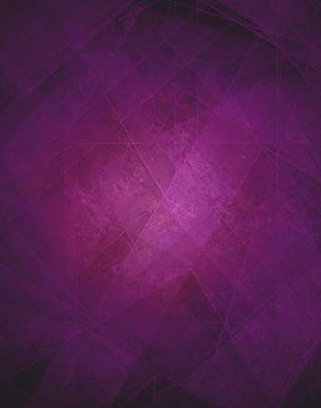 Abstract purple background, modern geometric line designs and triangle diamond and square shape patterns with glass texture layout