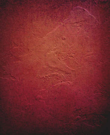 deep red orange background, distressed painted wall, elegant vintage background design, rough red plaster wall backdrop Stock Photo