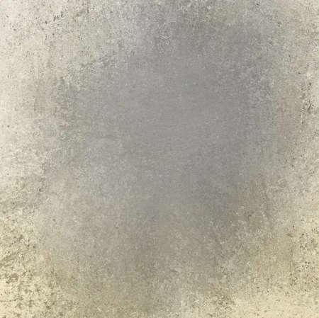 aged gray background, white cream or yellowed sponge texture border on gray vintage grunge background texture photo