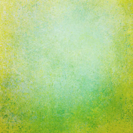 solid color: abstract green background white center with sponge vintage grunge background texture, distressed rough smeary paint on wall, website template, Christmas color background or spring Easter background Stock Photo