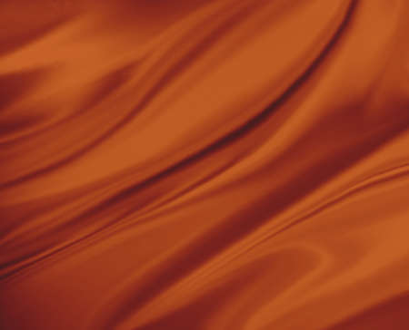 elegant backgrounds: burnt orange color background abstract cloth or liquid wave illustration of wavy folds of silk texture satin. Elegant orange background design.