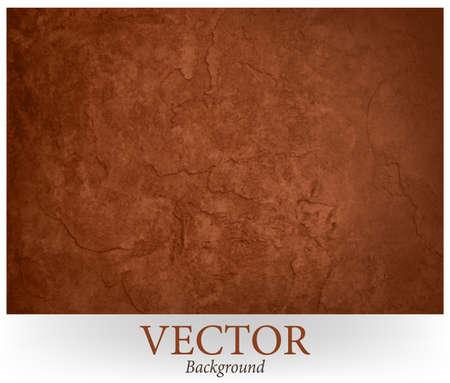 la pared de fondo marrón textura vector diseño. Rico fondo terroso pared marrón de color yeso con yeso agrietado o peeling efecto de la pintura. Ilustración de vector