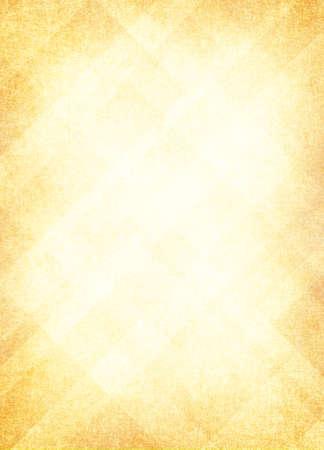 pergamino: la luz de fondo de oro amarillo, dise�o dise�o abstracto de patr�n de diamante al azar con centro desvanecido y la textura de fondo vintage apenada suave