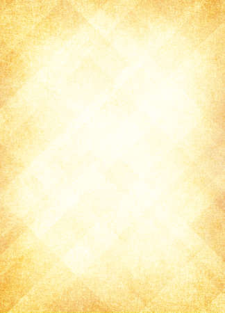 gold yellow: light yellow gold background, abstract design layout of random diamond pattern with faded center and soft vintage distressed background texture