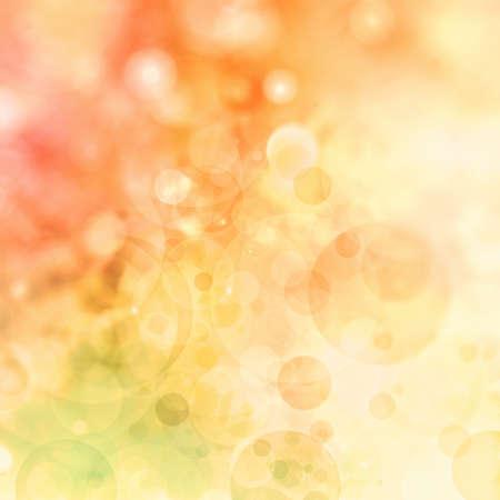 naranja: Fondo colorido abstracto, borrosa luces bokeh en telón de fondo multicolor, formas círculo redondo o burbujas flotantes
