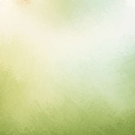 background cover: classy light green background with pale white center spot and darker green grunge design border texture with soft lighting Stock Photo