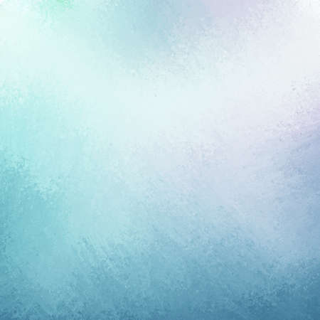background cover: classy sky blue background with pale white center spot and darker blue grunge design border texture with soft lighting Stock Photo