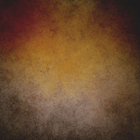 rustic orange brown grunge background with darker brown grungy border and vintage texture design