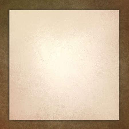 vintage brown background illustration, white layer on beige frame with distressed aged texture design illustration