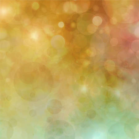 Beautiful gold green bokeh background with shimmering pink gold yellow and white lights with lens flare, festive party background, fantasy night or magical glitter background sparkles photo