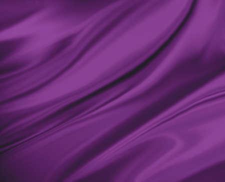 fondo de color rosa púrpura paño abstracto o ilustración ola líquido. Pliegues ondulados de seda textura satinada o material de terciopelo. Curvas elegantes de material brillante de color rosa púrpura.
