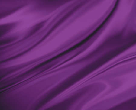 purple pink background abstract cloth or liquid wave illustration. Wavy folds of silk texture satin or velvet material. Elegant curves of purple pink shiny material.
