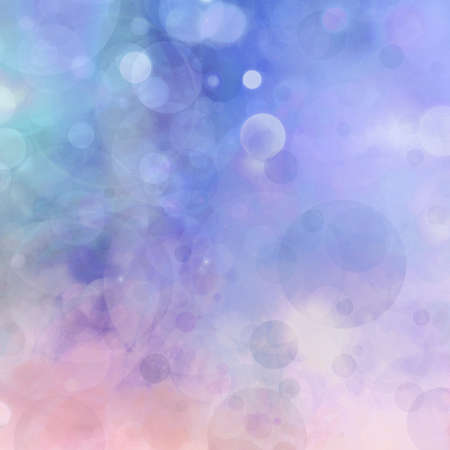 abstract colorful background, blurred bokeh lights on multicolored backdrop, floating round circle shapes or bubbles Stock Photo
