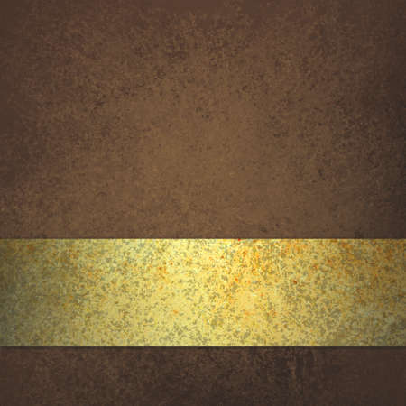brown background with elegant gold ribbon or stripe design layout
