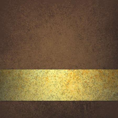 sfondo strisce: sfondo marrone con elegante nastro d'oro o il layout design a strisce