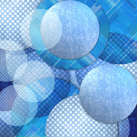 stripes patterns: abstract blue background, layers of blue circle shapes in random artistic pattern composition, blue floating balls or bubbles design