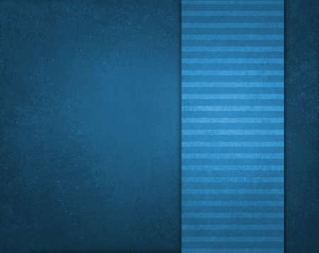 blue background with striped blue and white pattern ribbon layout and vintage texture photo