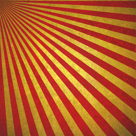 abstract red gold sunburst background, retro vintage style sunbeam or rays in diagonal pattern design with texture photo