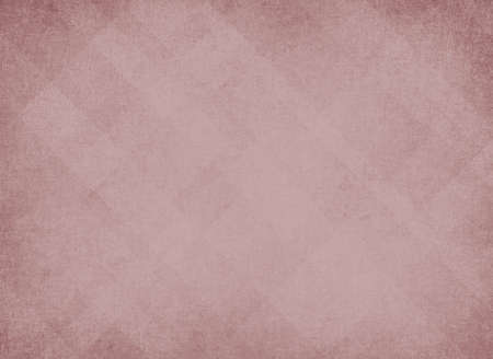 diagonal lines: light pink background, abstract design layout of random diamond pattern with faded center and soft vintage distressed background texture