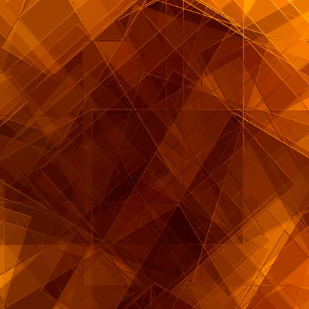 abstract diagonal lines and triangle shapes in random pattern on orange brown background design photo