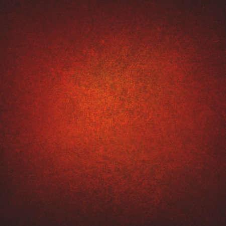 текстуру фона: насыщенный красный оранжевый фон стена с черным виньетка границы и легкой центр, Абстрактные подробные старинные фон гранж текстуры, мягкой проблемных губки текстуры, красивые Рождественские красный цвет фона