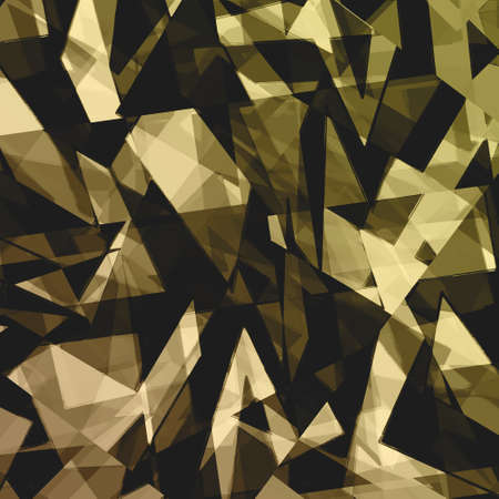 futuristic background: abstract geometric background design shape pattern, futuristic background, technology business presentation report cover, angled triangle abstract shape art, glass texture, black gold background wall