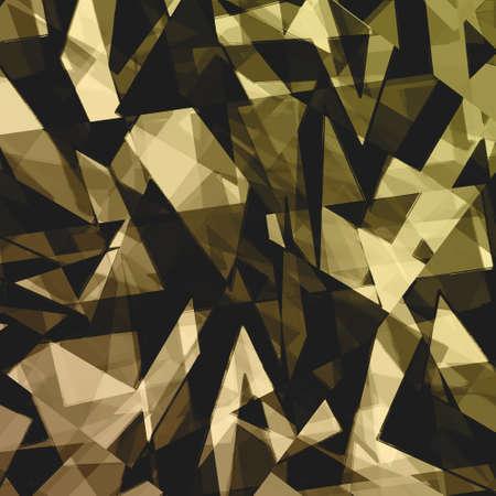 fondo geometrico: patr�n de fondo abstracto geom�trico forma de dise�o, fondo futurista, tecnolog�a informe presentaci�n de negocios cubierta, tri�ngulo rect�ngulo forma de arte abstracto, textura de cristal, el oro negro de fondo de pared