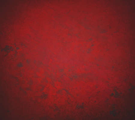 abstract red background with old black vintage grunge background texture, grungy sponge design on border, red paper or red wallpaper for Christmas background or web template background or book cover