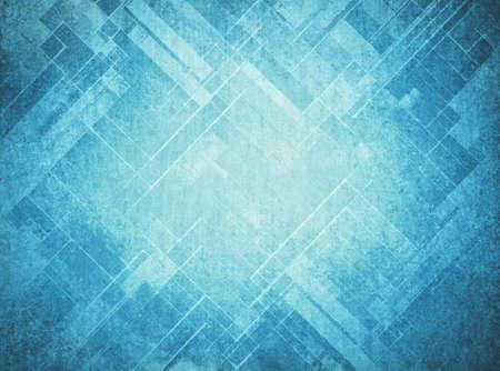 abstracte blauwe achtergrond vervaagde geometrisch patroon van hoeken en lijnen, diagonaal design elementen, geweven achtergrond