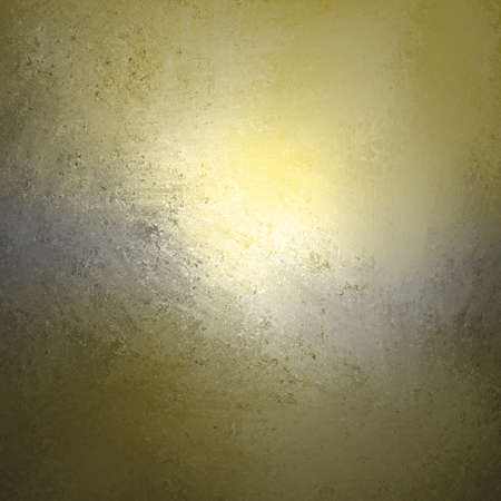 gray texture: abstract gold gray background design, border has dark golden yellow color edges of rough distressed vintage grunge texture, pale soft opaque white center Stock Photo