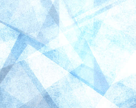 background cover: abstract blue background with white parchment paper geometric shapes, background texture, linen canvas style, background for graphic designers, website template background, modern contemporary art Stock Photo