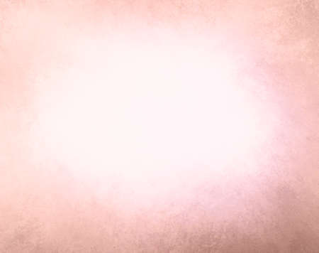 pale color: abstract faded pink background, gradient white into pink color, foggy center and darker pink peach grunge texture border Stock Photo