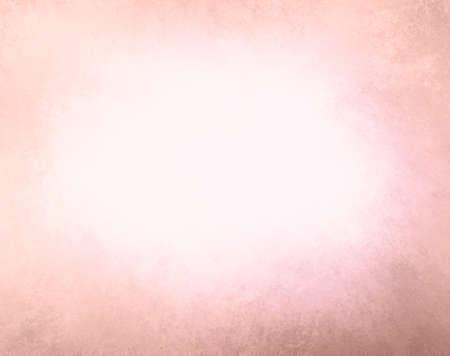 textura: abstraktní vybledlé růžové pozadí, Bílý přechod do růžové barvy, mlhavo centrum a tmavší růžové broskví grunge textury hranice