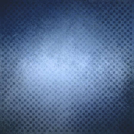 blue background checkered design, abstract background, block squares in fine detailed pattern layer Stock Photo