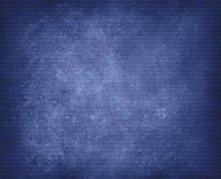 ビンテージ青い縞模様の背景、暗い黒ビネット ボーダー設計で苦しめられたテクスチャ上のぼろぼろのシックなラインのデザイン要素を色あせた