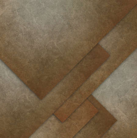 brown background, layered diamond shapes in abstract design with vintage grunge texture photo