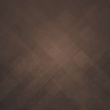 brown geometric background abstract shapes design, angled line design elements or stripes, squares or triangle abstract modern art design backdrop with distressed vintage texture Archivio Fotografico
