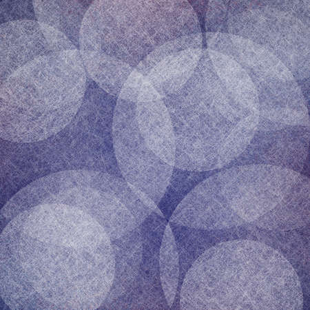 abstract purple blue background with white floating bubbles or round shape design elements in random pattern