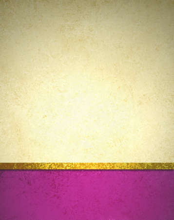 abstract gold background with pink footer and gold ribbon trim border, beautiful template background layout, luxury elegant gold paper with vintage grunge background texture design photo