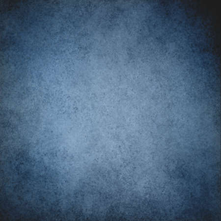 rustic blue grunge background with darker black grungy border and vintage texture design Stock Photo