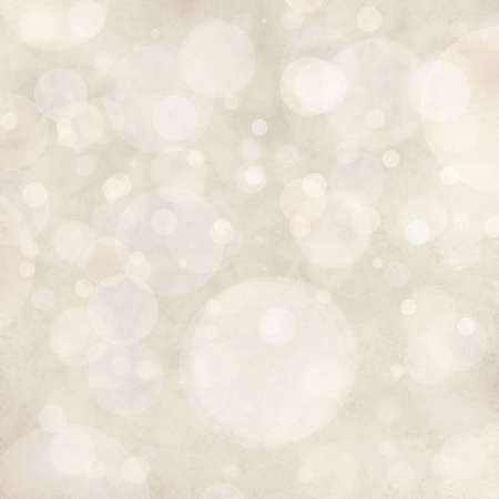 白色背景博肯燈,模糊失焦下雪或下雨的天空,有光澤的亮閃閃的燈光或圓形狀,漂浮的泡沫背景 版權商用圖片