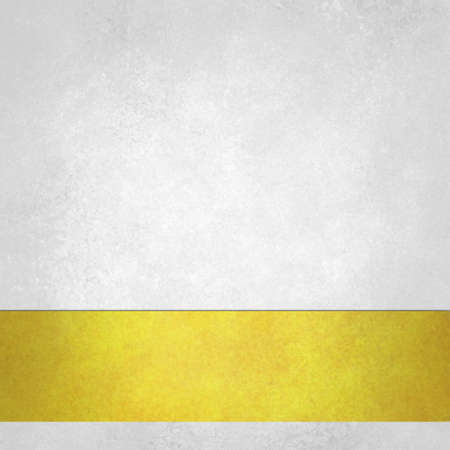 white trim: pure white background with gold footer stripe on bottom border, old white paper vintage background texture Stock Photo